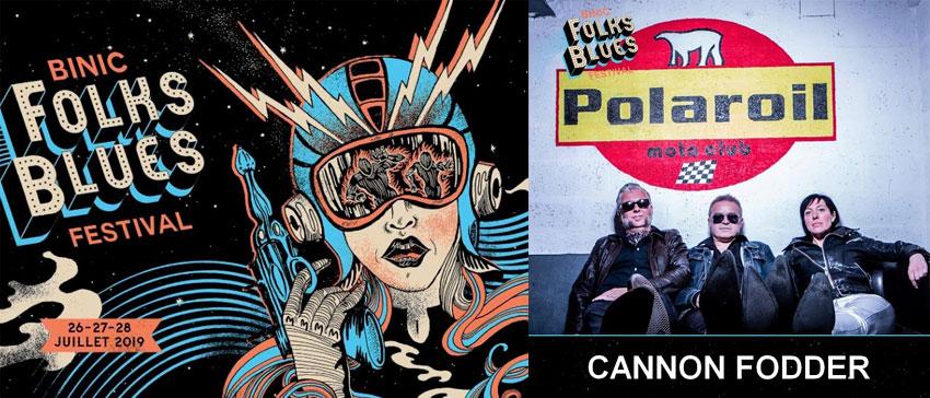 Binic Folks Blues Festival 2019 Cannon Fodder