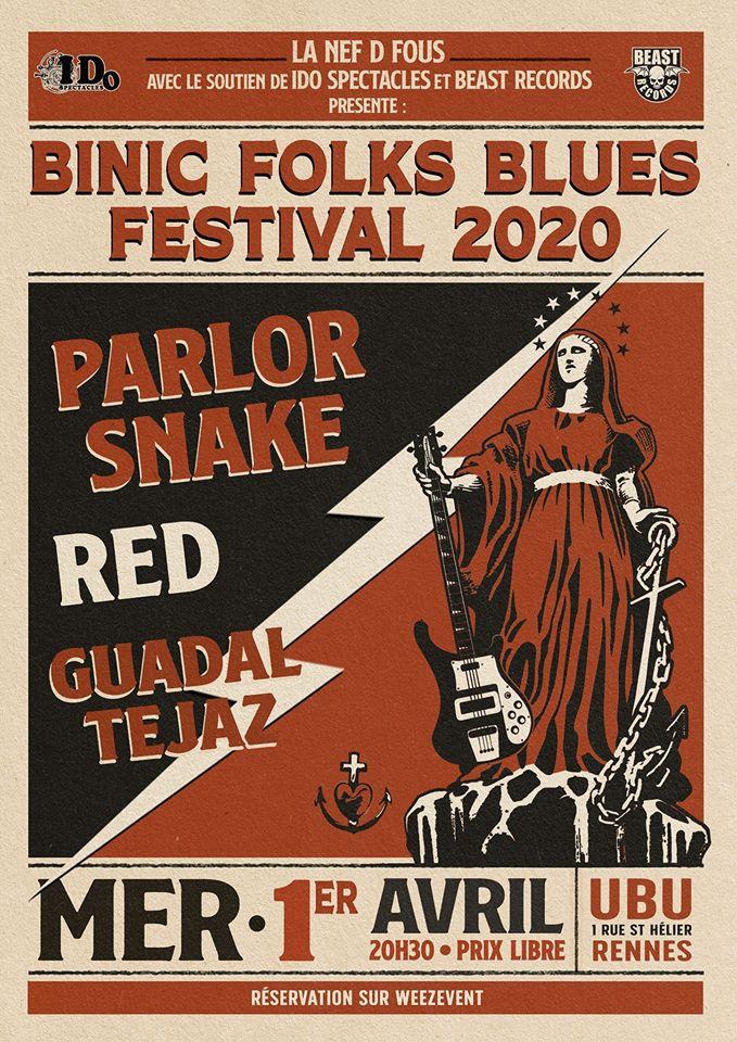 Binic Folks Blues Festival 2020, annonce de la programmation à l'Ubu